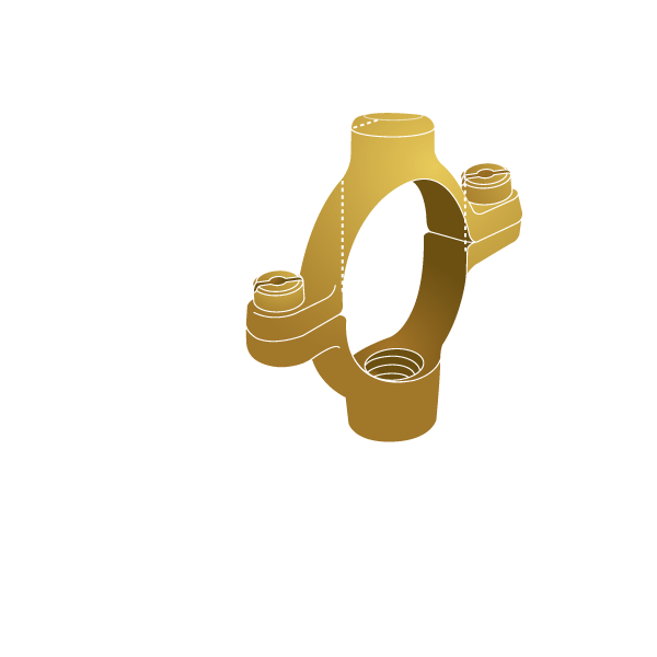 Brass Pipe Clips