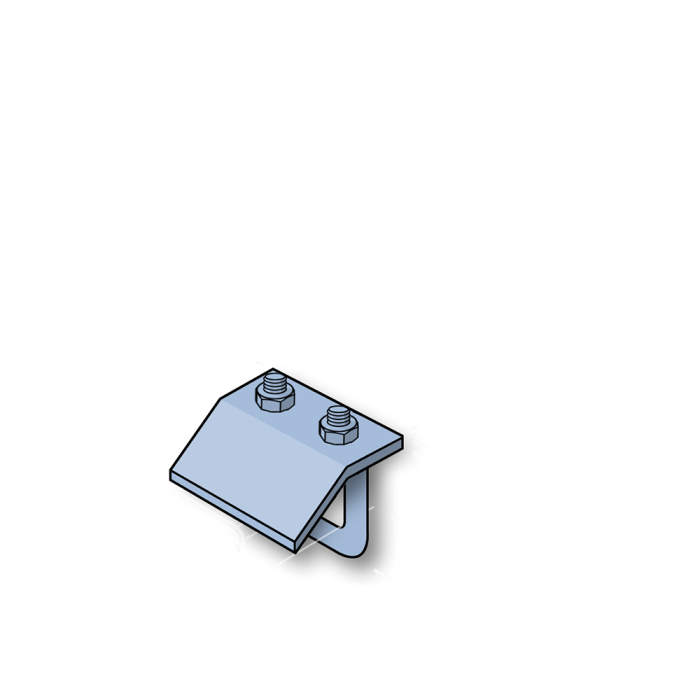 M10 BEAM CLAMPS with SQUARE U BOLT