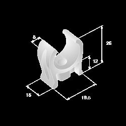 plastic pipe clips