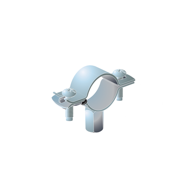 15mm Easifix Unlined Bzp Pipe Clips