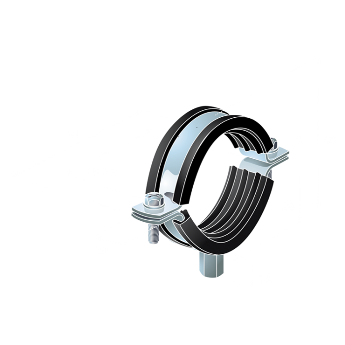 Steel rubber lined Pipe Clips