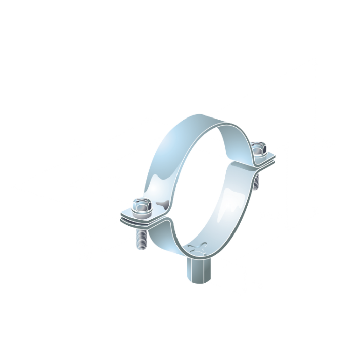 15mm Unlined Standard Bzp Pipe Clips