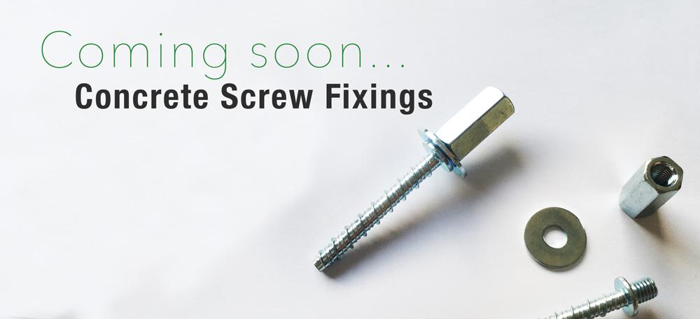 concrete screw fixings